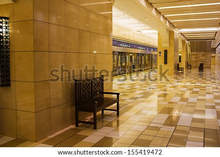 underground subway station in the united arab emirates - stock photo