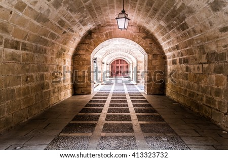 Underpass, Palma - Majorca - stock photo