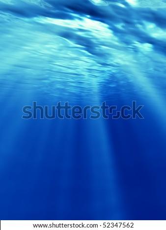 undersea - stock photo