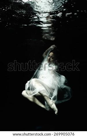 Underwater Fashion - stock photo