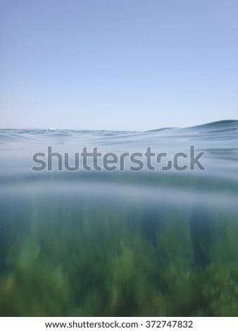 Underwater footage San Antonio cape nature reserve Las Rotas area Denia Alicante Spain - stock photo
