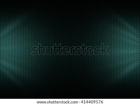 Underwater Metal Plating & light ray - stock photo
