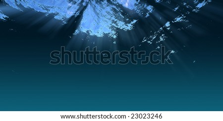 Underwater scene - stock photo