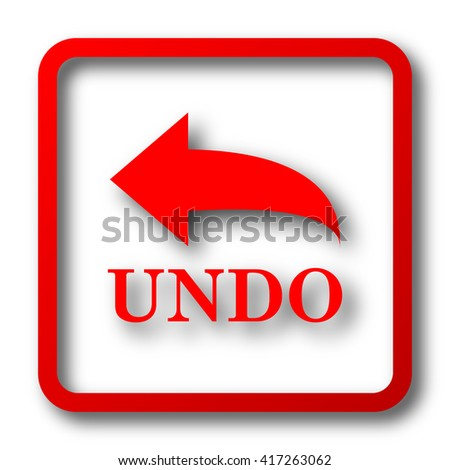 Undo icon. Internet button on white background.