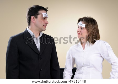 unemployed colleagues discussing - stock photo