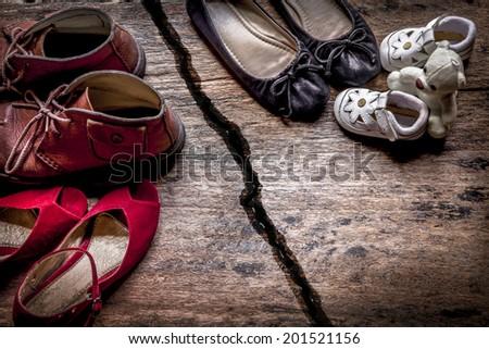 Unfaithful, Shoes - stock photo