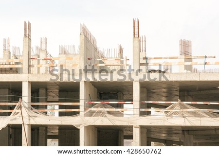 Unfinished building - stock photo