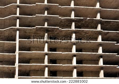 Unfinished Construction/Construction Site/Abandoned construction site in Dubai Marina - stock photo