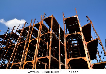 unfinished grunge construction - stock photo