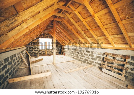 unfinished private dwelling house - stock photo