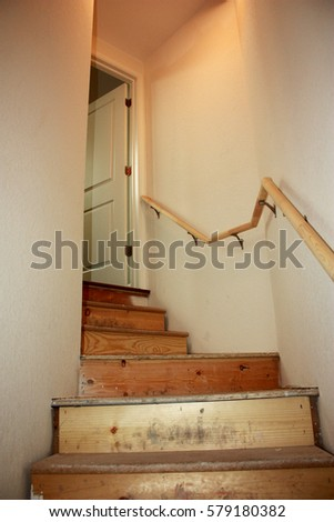 Superb Unfinished Stairs In New Home Construction