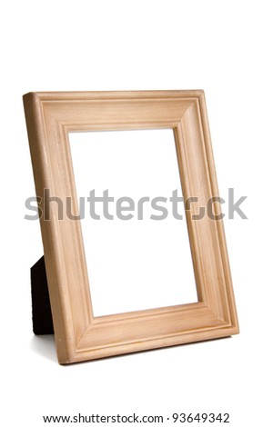 Unfinished Wooden Frame Isolated On White Stock Photo (Edit Now ...