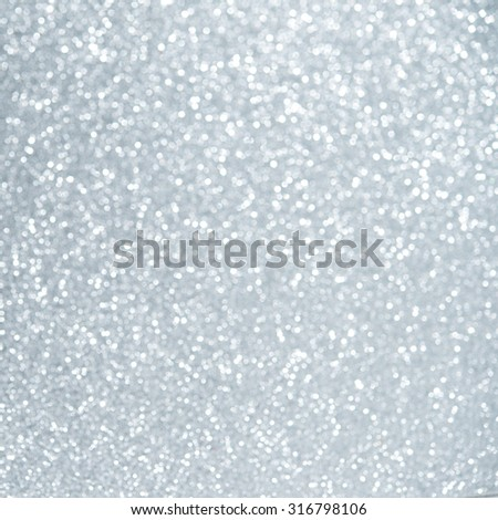 Unfocused abstract light blue glitter holiday background. Christmas theme. - stock photo