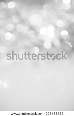 Unfocused abstract silver glitter holiday background. Winter xmas holidays. - stock photo