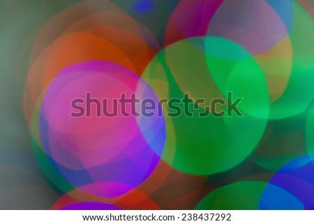 unfocused circles of light - stock photo