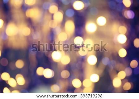 Unfocused lights - stock photo
