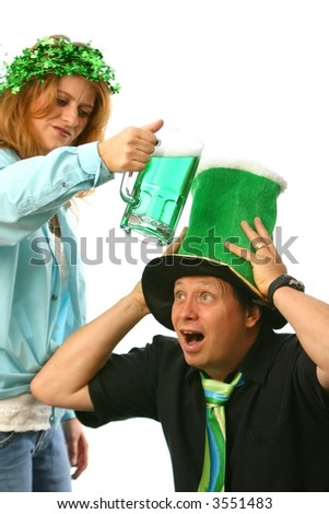 Unhappy wife on Saint Patrick's Day