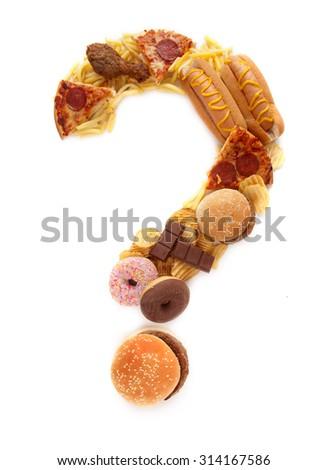 Unhealthy diet lifestyle choice  - stock photo