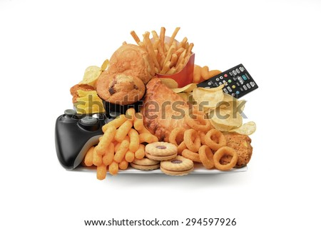 Plate of unhealthy food