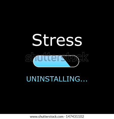 Uninstalling Stress Illustration  - stock photo
