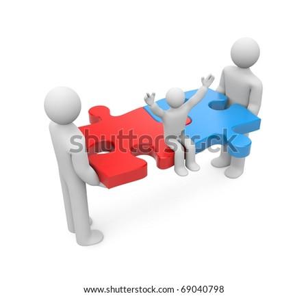 Union. Family concept - stock photo