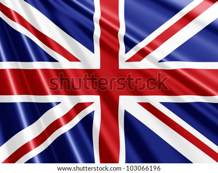 Union Jack Flag background - ideal for the Queens Jubilee - stock photo