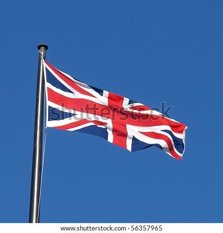 Union Jack national flag of the United Kingdom (UK) - stock photo