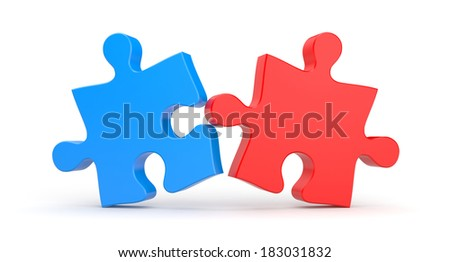 Union. Jigsaw puzzles - stock photo