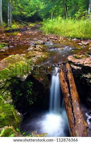 Union River Gorge Cascades of Michigan - stock photo