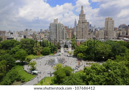 Union Square at New York City - stock photo