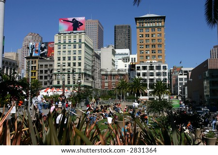 union square at san francisco - stock photo