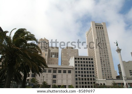 union square - San Francisco - stock photo