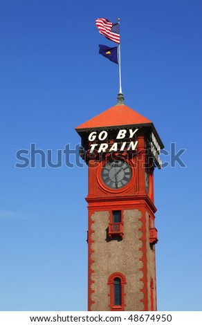 Union station tower. - stock photo