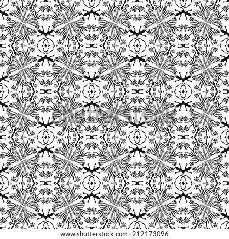 Unique, abstract pattern. Made with unique drawings and sketches