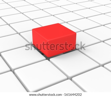 Unique Block Shows Standing Out And Different - stock photo