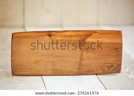 Unique handmade cutting board or serving tray.  - stock photo