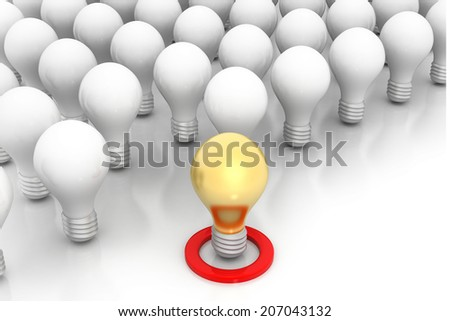 Unique idea,  one unique golden bulb
