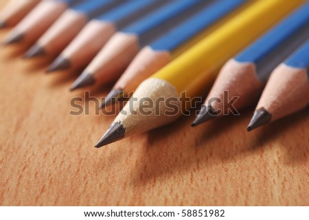unique or different from the crowd - stock photo