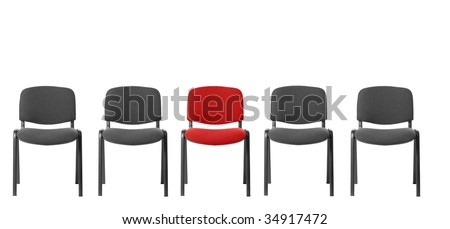 Unique red chair - stock photo