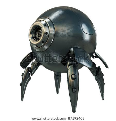 Unique robotic spy - stock photo