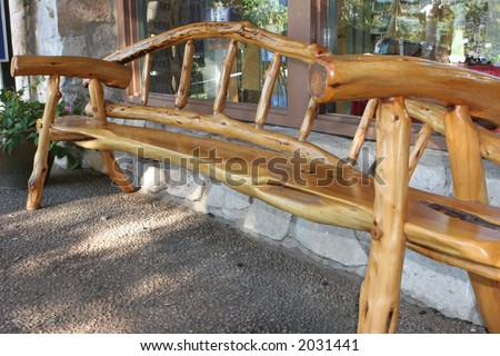 Unique wooden chair - stock photo