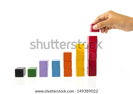 Unique wooden toys. - stock photo