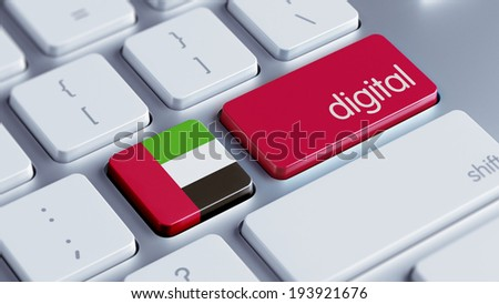 United Arab Emirates  High Resolution Digital Concept - stock photo