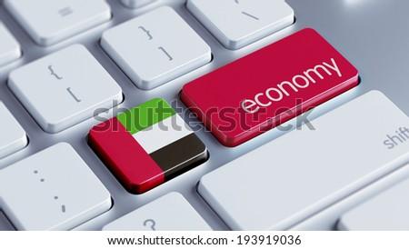 United Arab Emirates  High Resolution Economy Concept - stock photo