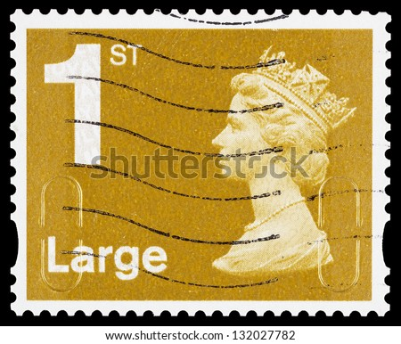 first class letter postage class stamp stock images royalty free images 13002 | stock photo united kingdom a used first class large letter postage stamp printed in britain showing 132027782