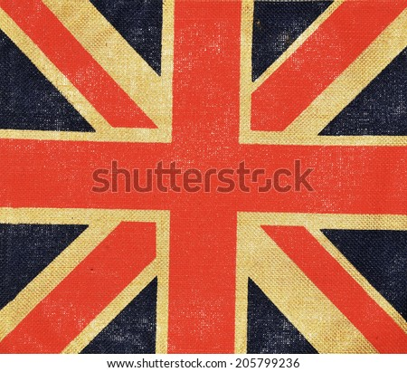 United Kingdom abstract grungy vintage flag - stock photo