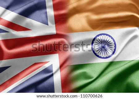 United Kingdom and India - stock photo
