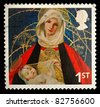 UNITED KINGDOM - CIRCA 2005: A British Used Postage Stamp showing Madonna and Child , circa 2005 - stock photo
