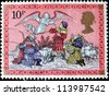 UNITED KINGDOM - CIRCA 1979: A post stamp printed in the Great Britain devoted Christmas , circa 1979 - stock photo
