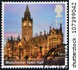 UNITED KINGDOM - CIRCA 2012: A stamp printed in Great Britain shows Manchester Town Hall, circa 2012 - stock photo